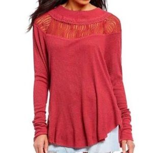 FREE PEOPLE SPRING VALLEY OVERSIZED THERMAL TOP